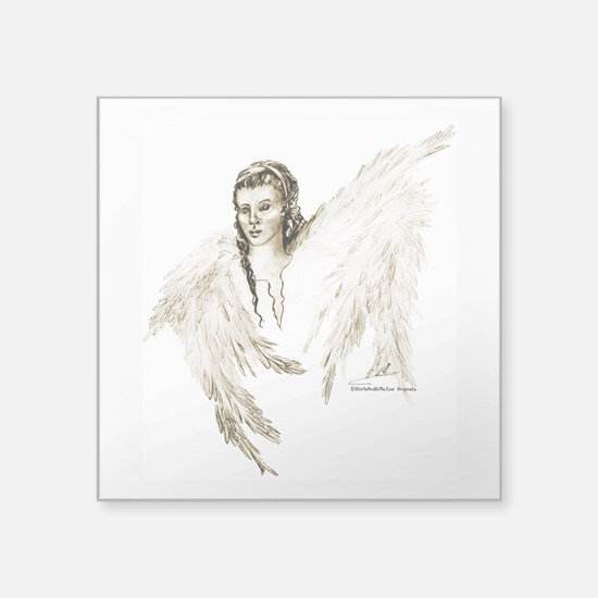 "Guardian Angel Square Sticker 3"" x 3"""
