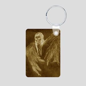 Guardian Angel Aluminum Photo Keychain