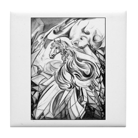 Winged Crystalline Horse Vampire Fantasy Art Print original fantasy art by Janice Moore