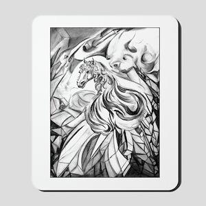 Winged Horse Fantasy Art Mousepad