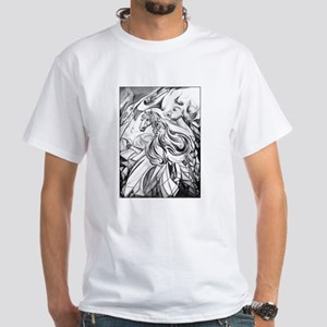 Winged Horse Fantasy Art White T-Shirt