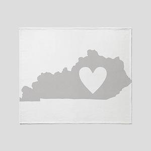 Heart Kentucky Throw Blanket
