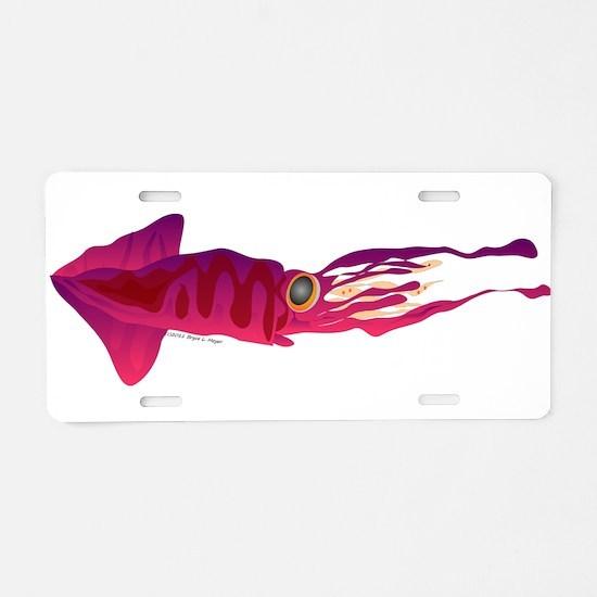 Humboldt Squid f Aluminum License Plate