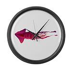 Humboldt Squid f Large Wall Clock