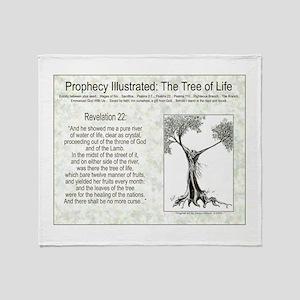 Tree Of Life Scripture Verse Throw Blanket
