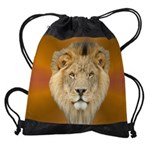 Lion Face Drawstring Bag