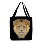 Lion Face Polyester Tote Bag