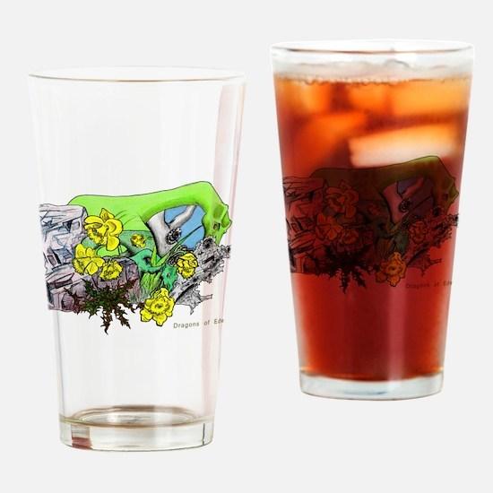 Dragons Crystal Garden Fantasy Art Drinking Glass