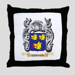 Gordon Coat of Arms - Family Crest Throw Pillow