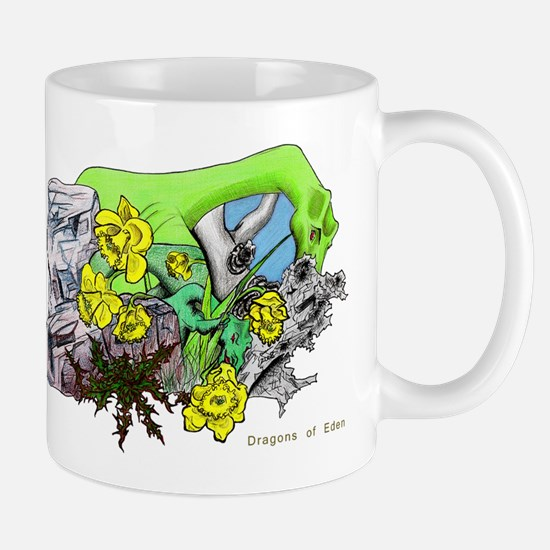Dragons Crystal Garden Fantasy Art Mug