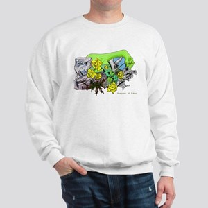 Dragons Crystal Garden Fantasy Art Sweatshirt