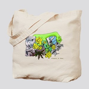 Dragons Crystal Garden Fantasy Art Tote Bag