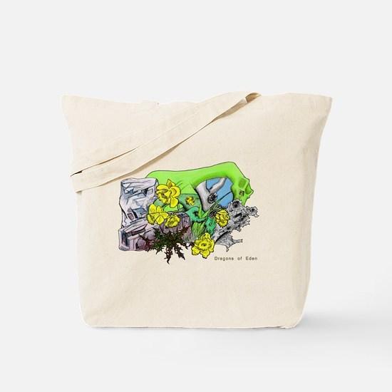 Dragons Crystal Garden Fantasy Art Tote Bag