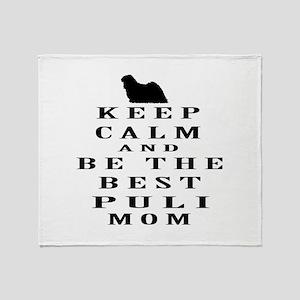 Keep Calm Puli Designs Throw Blanket