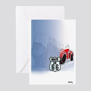 Packin it up on Route 66 Greeting Cards (Package o
