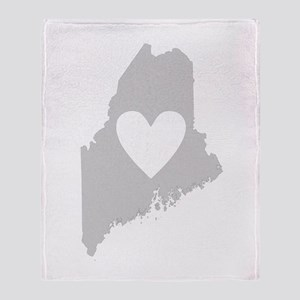 Heart Maine Throw Blanket