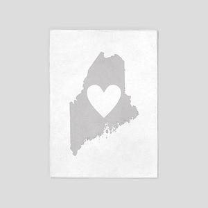 Heart Maine 5'x7'Area Rug
