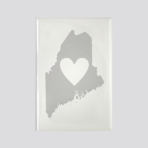 Heart Maine Rectangle Magnet