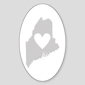 Heart Maine Sticker (Oval)
