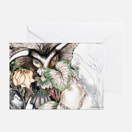 Nephilim Dragon Fantasy Art Greeting Card