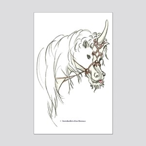 Unicorn Mischief Mini Poster Print