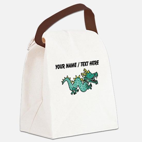 Custom Cartoon Serpent Dragon Canvas Lunch Bag
