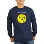 Satanic Smiley Face Long Sleeve Dark T-Shirt
