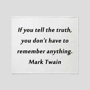 Twain On Truth Throw Blanket