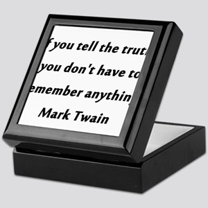 Twain On Truth Keepsake Box