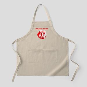 Custom Red And White Yin Yang Dragons Apron