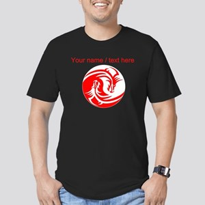 Custom Red And White Yin Yang Dragons T-Shirt
