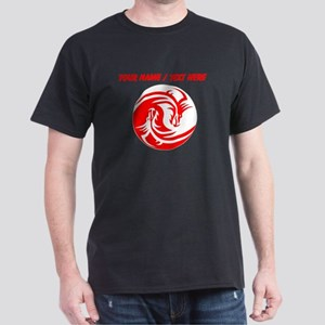 Custom Red And White Yin Yang Dragons T-Shirt