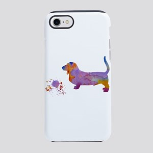 Basset hound with toy iPhone 7 Tough Case