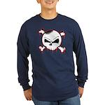 Skull n' X-bones Long Sleeve Dark T-Shirt