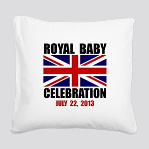 Royal Baby Celebration Square Canvas Pillow