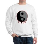 Blood Drip Ying Yang Sweatshirt