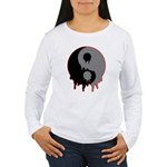 Blood Drip Ying Yang Women's Long Sleeve T-Shirt