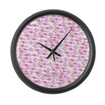 School of Silly Squid s Large Wall Clock