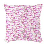 School of Silly Squid s Woven Throw Pillow