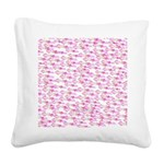 School of Silly Squid s Square Canvas Pillow