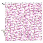 School of Silly Squid s Shower Curtain