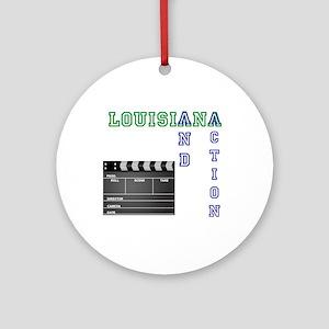 louisiana film w slate Ornament (Round)