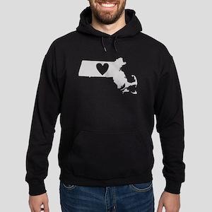 Heart Massachusetts Hoodie (dark)