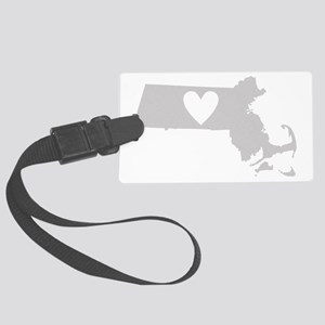 Heart Massachusetts Large Luggage Tag