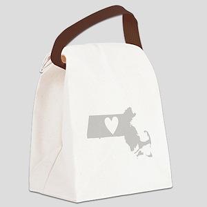 Heart Massachusetts Canvas Lunch Bag