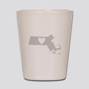 Heart Massachusetts Shot Glass