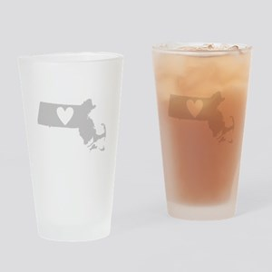 Heart Massachusetts Drinking Glass