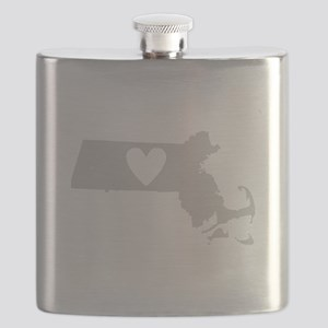 Heart Massachusetts Flask