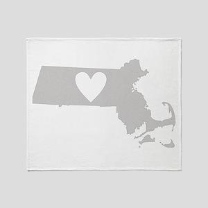 Heart Massachusetts Throw Blanket