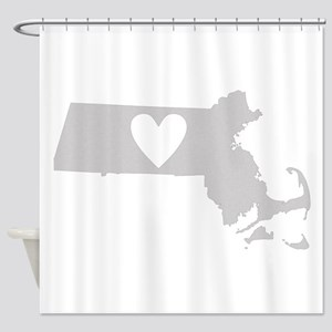 Heart Massachusetts Shower Curtain